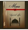 Menu design for Restaurant or Cafe Vintage vector image