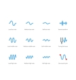 Music waves color icons on white background vector image vector image