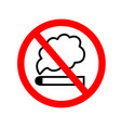 no smoking sign icon eps vector image vector image
