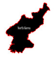north korea silhouette vector image