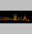 nuremberg light streak skyline profile vector image vector image