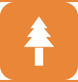 pine tree icon vector image vector image