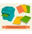 Print icons set8 vector image vector image