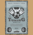 retro poster of car engine tuning vector image