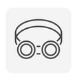 safety goggle icon vector image