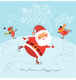 santa scating vector image
