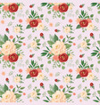 seamless flowers pattern floral print rose vector image vector image