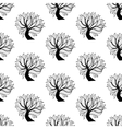 Seamless pattern background black and white tree vector image