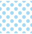 seamless pattern with cute tile blue polka dots vector image vector image