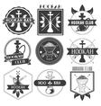 set hookah club logotypes vector image