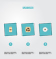 set of coffee icons flat style symbols with vector image vector image