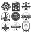 Set of hookah club logotypes vector image