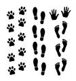 Set of trace vector image vector image