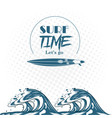 surf time theme poster vector image vector image