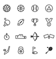 Thin line icons - sport