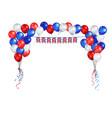 united kingdom symbol balloons vector image