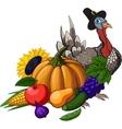 Thanksgiving still life vector image