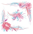 Creative Romantic Floral Ornaments vector image