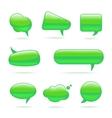 Abstract Glass Green Speech Bubbles Set vector image