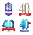 40 Years Anniversary Symbol vector image vector image