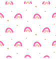 abstract cute rainbow seamless pattern vector image vector image