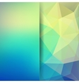 Abstract geometric style green background vector image vector image