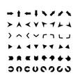 arrows set clipart for web design mobile apps vector image