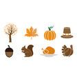 autumn clipart design set bundle template isolated vector image
