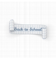 Back to School paper festive Ribbon vector image vector image