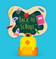 back to school sale banner poster flat design vector image vector image