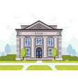 bank or goverment building architecture business vector image vector image