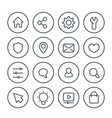 basic line icons for web vector image vector image