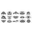 biker club emblems retro motorcycle rider badges vector image