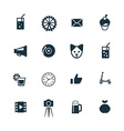 birthday icons set vector image vector image