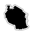 black silhouette of the country tanzania with the vector image vector image