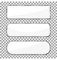 blank banner button with silver metal frame chrom vector image vector image