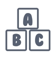 blocks alphabet education icon vector image