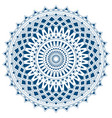 blue mandala from simple shapes isolated vector image vector image