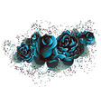 Blue Roses vector image vector image