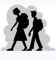 boy and girl vector image vector image