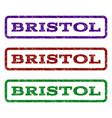 bristol watermark stamp vector image vector image