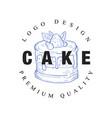 cake logo original design premium quality retro vector image vector image