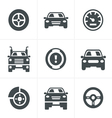 Car Icons Set Design vector image
