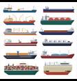 cargo ship shipping transportation export vector image vector image
