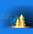 christmas and happy new year background xmas pine vector image