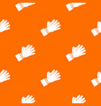 clapping applauding hands pattern seamless vector image vector image