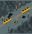 coal industry isometric template vector image vector image