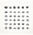collection of creative king and queen crowns vector image vector image