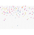 colorful confetti isolated on transparent vector image vector image