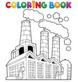 coloring book factory theme 1 vector image